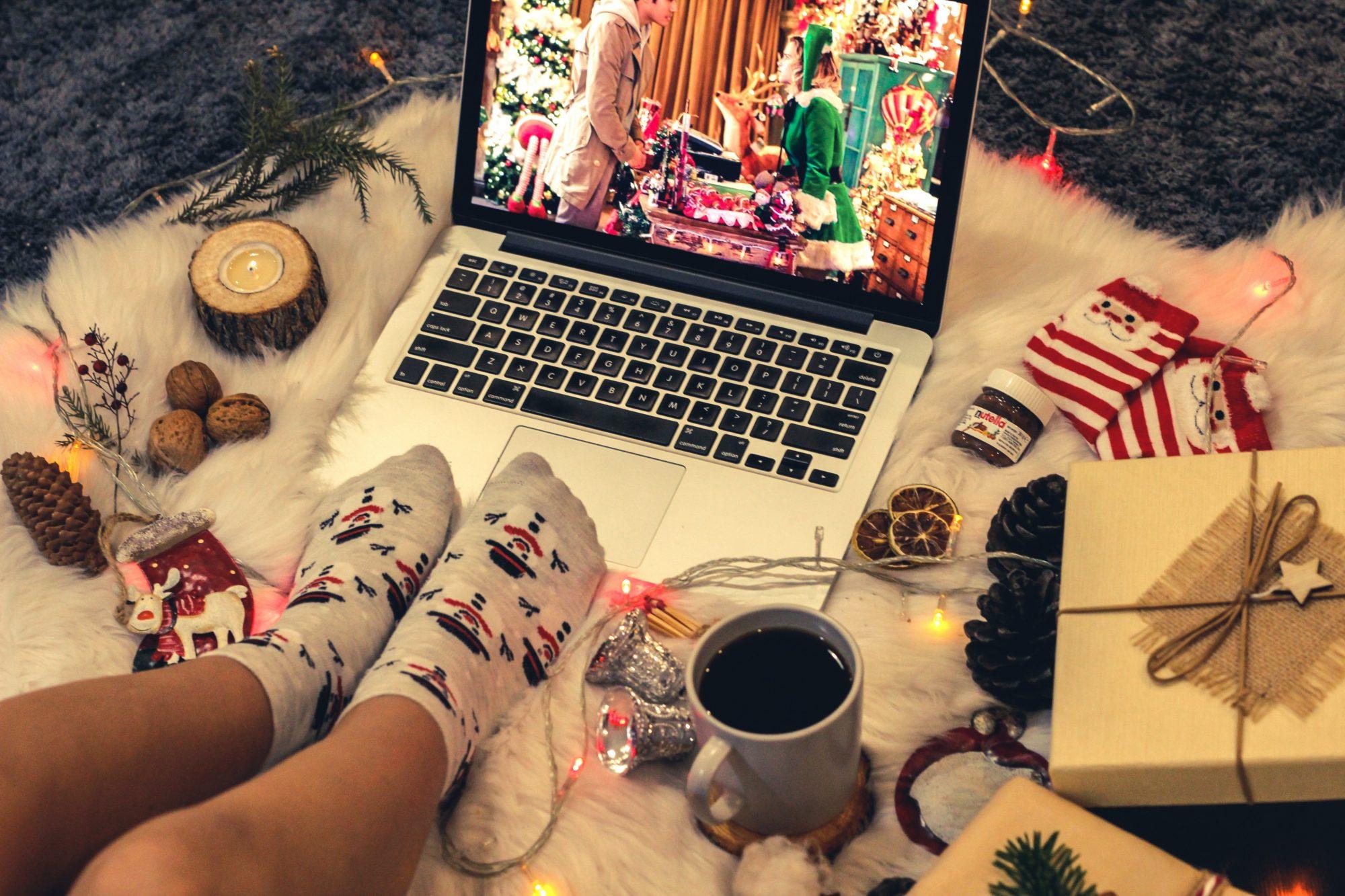 holiday spirit pajamas wfh socks mood positivity cozy comfy