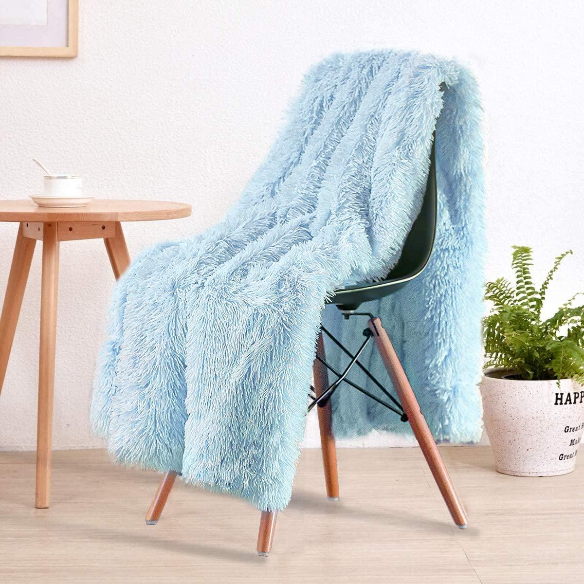 blue fuzzy blanket