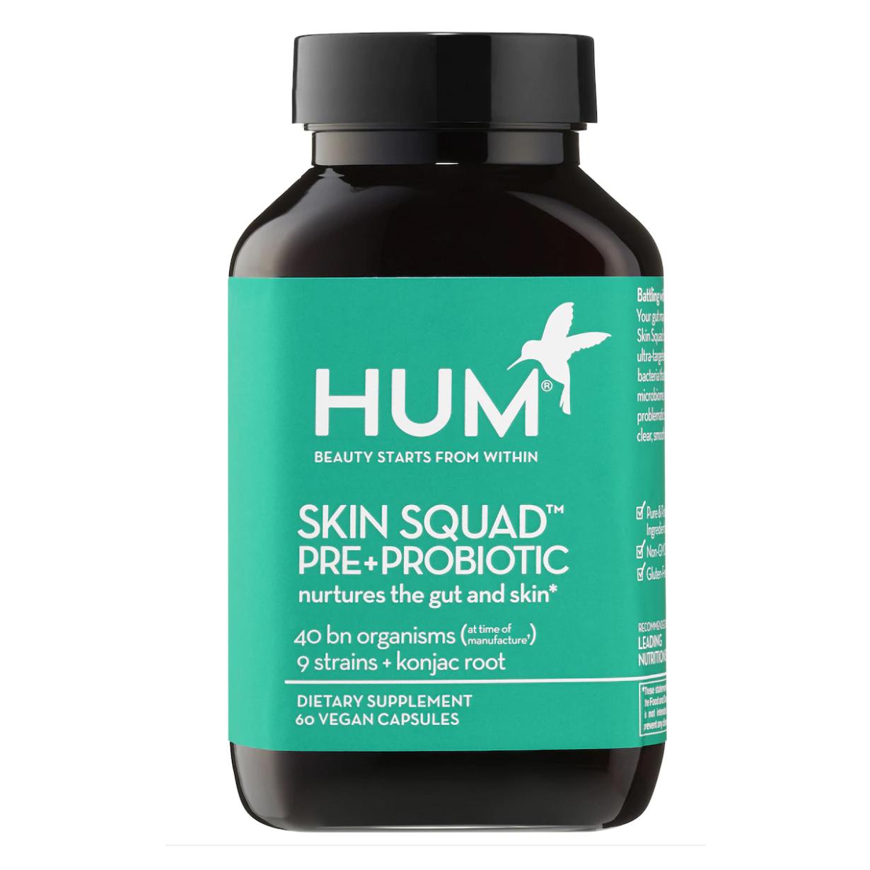 probiotic skincare hum nutrition supplements benefits
