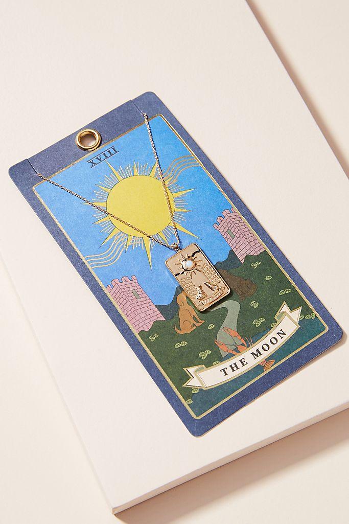 tarot card necklace anthropologie zodiac jewelry