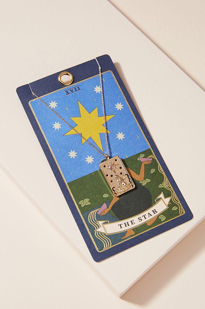 tarot card necklace zodiac jewelry