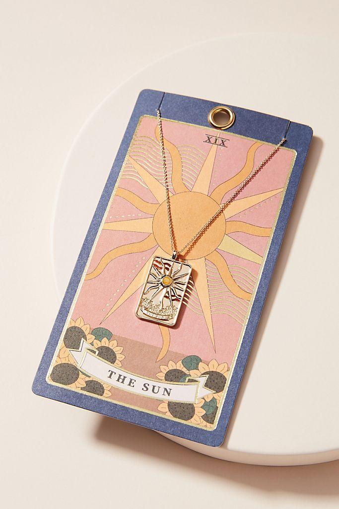 tarot card necklace anthropologie