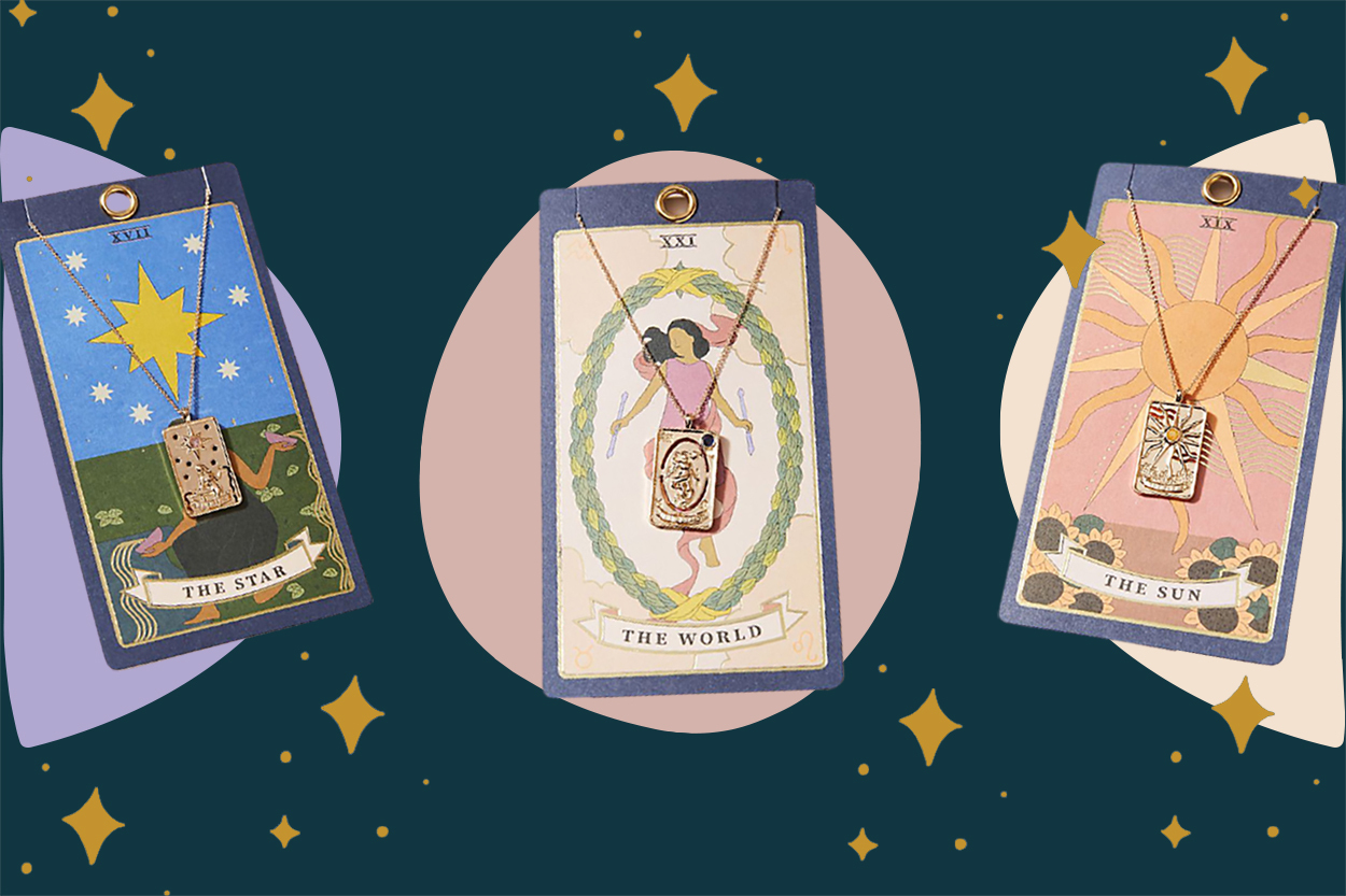 tarot card jewelry zodiac necklace
