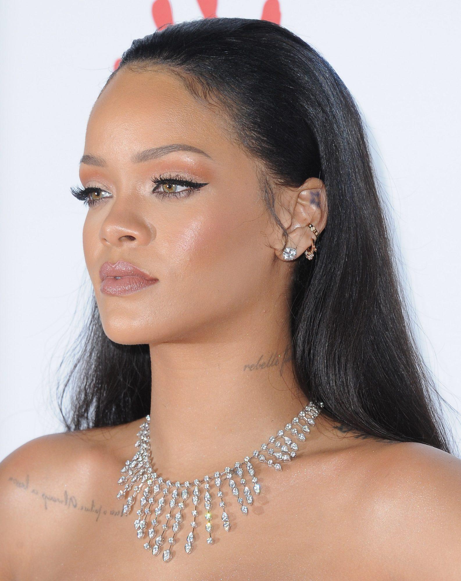 Rihanna conch piercing
