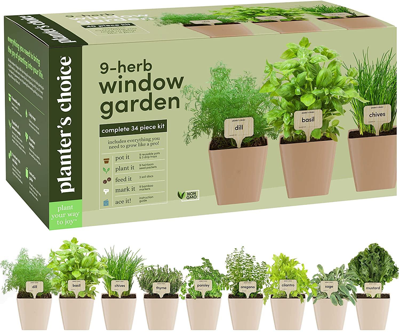 indoor herb garden kit hobby gifts