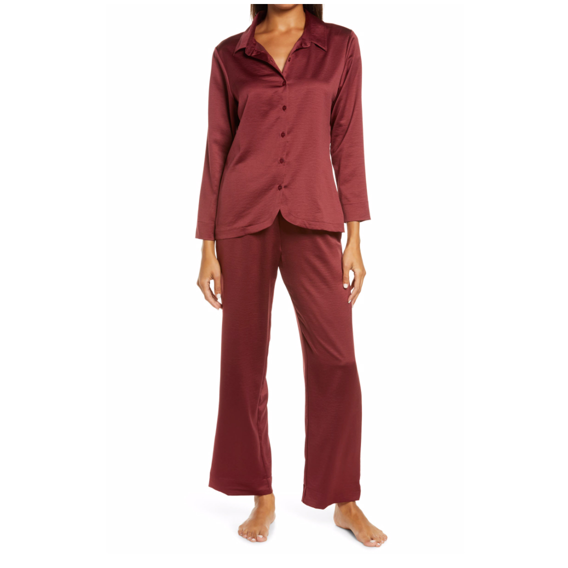 Nordstrom satin pajamas New Year's Eve outfit