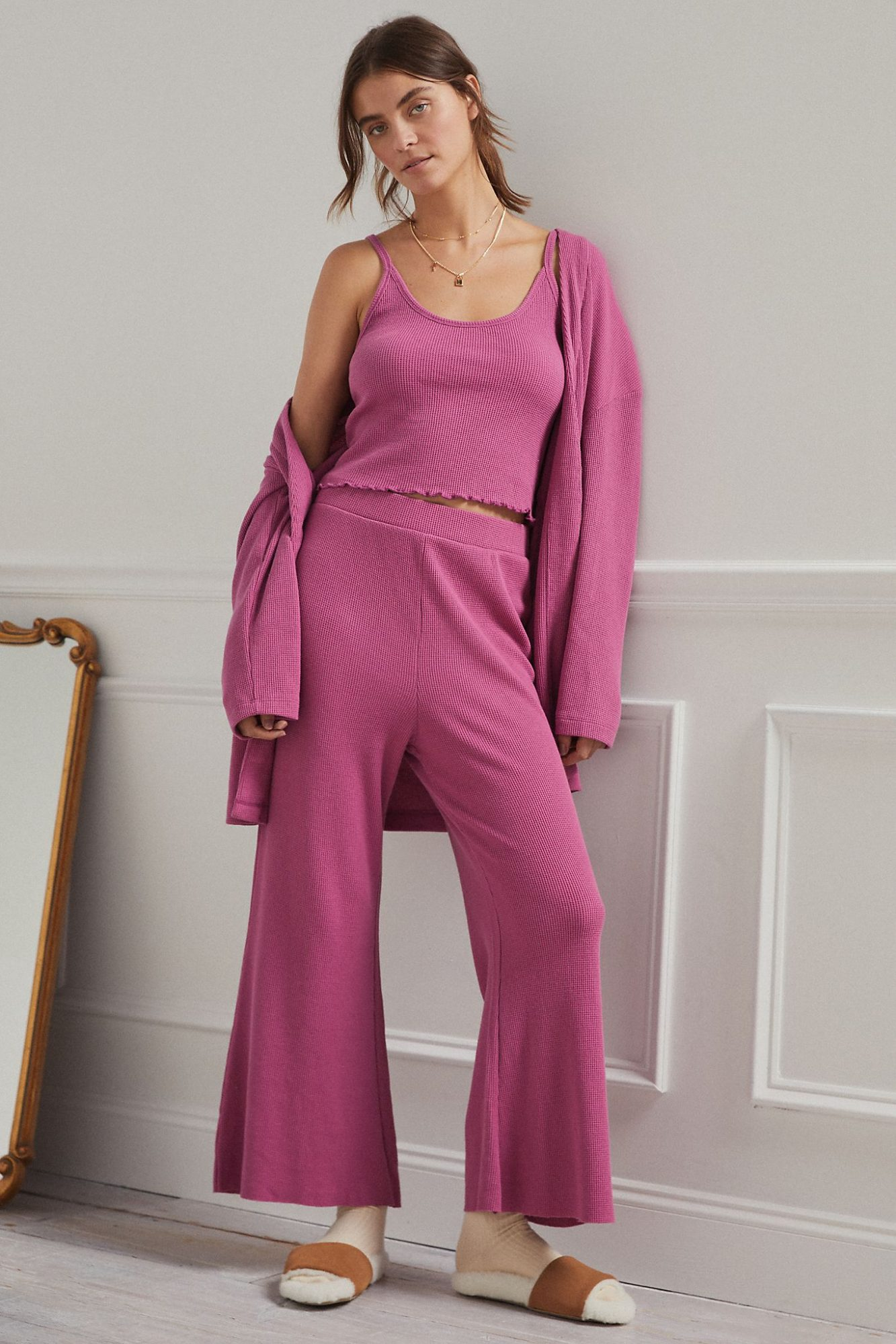 Anthropologie three-piece set loungewear New Years Eve outfit