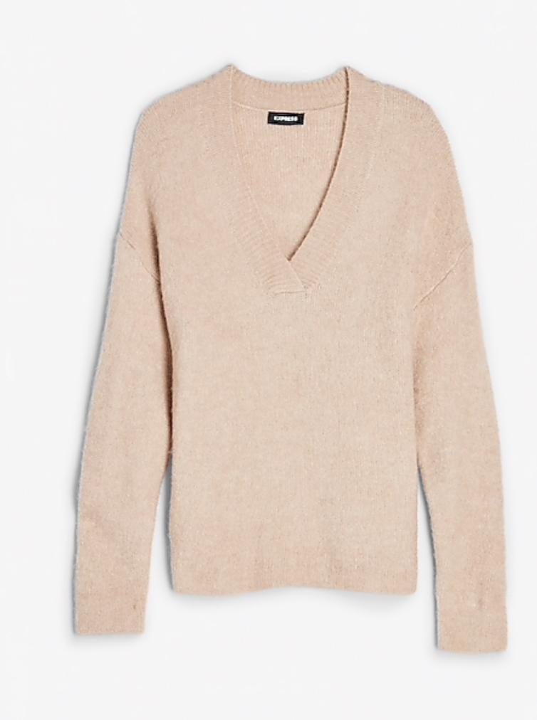V-neck sweater Express