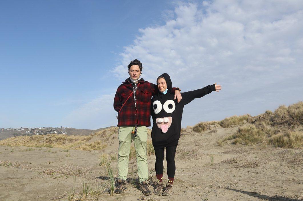 Zach Braff and Florence Pugh