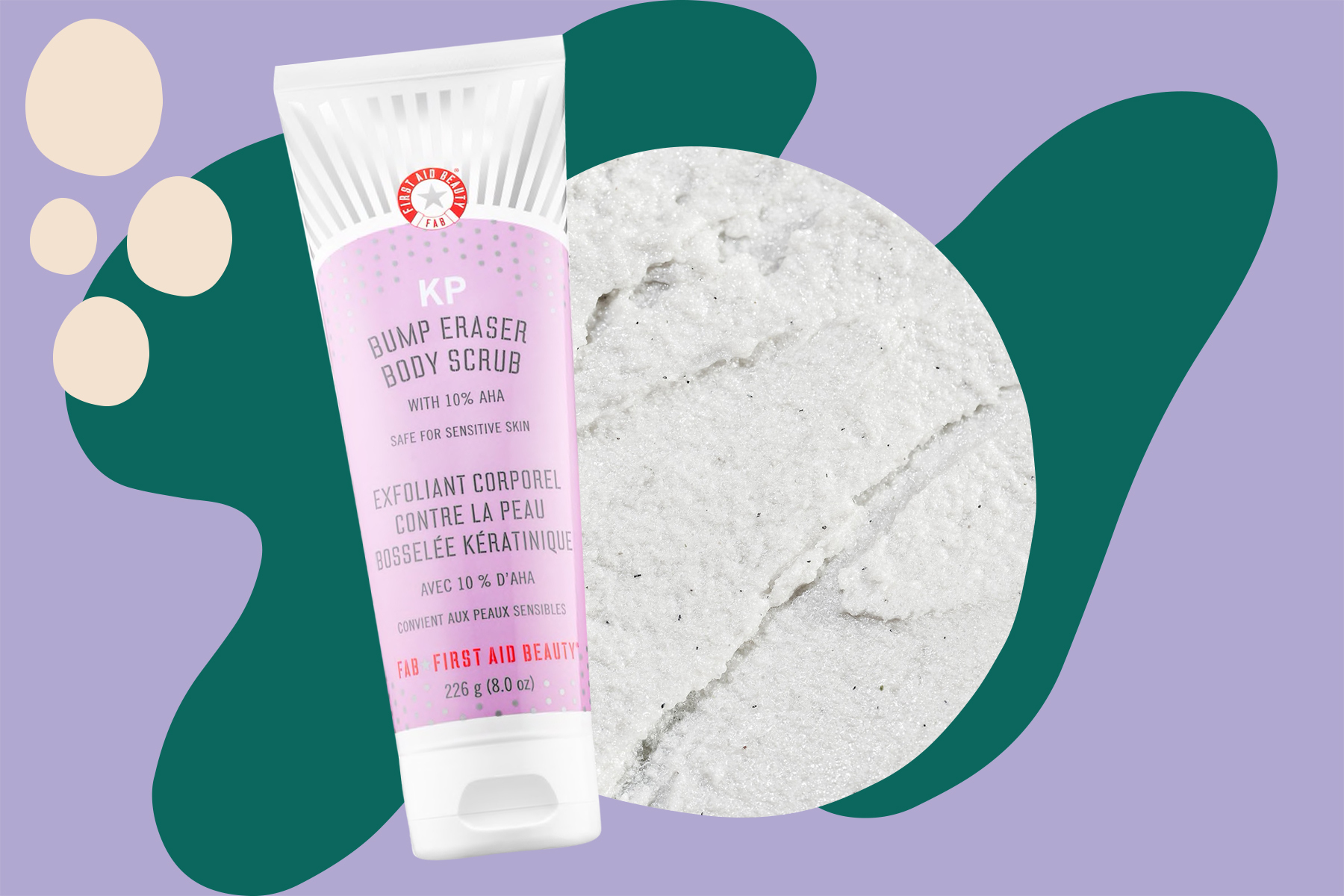first aid beauty KP Bump Eraser Body Scrub with 10% AHA review