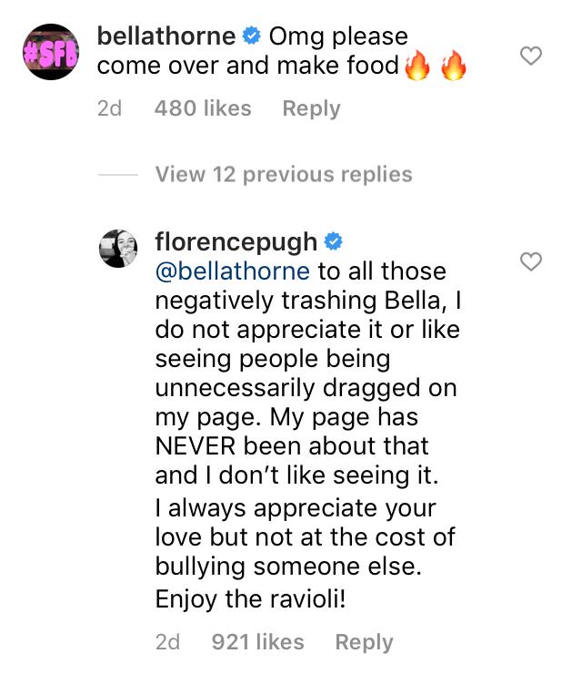 florence pugh comment