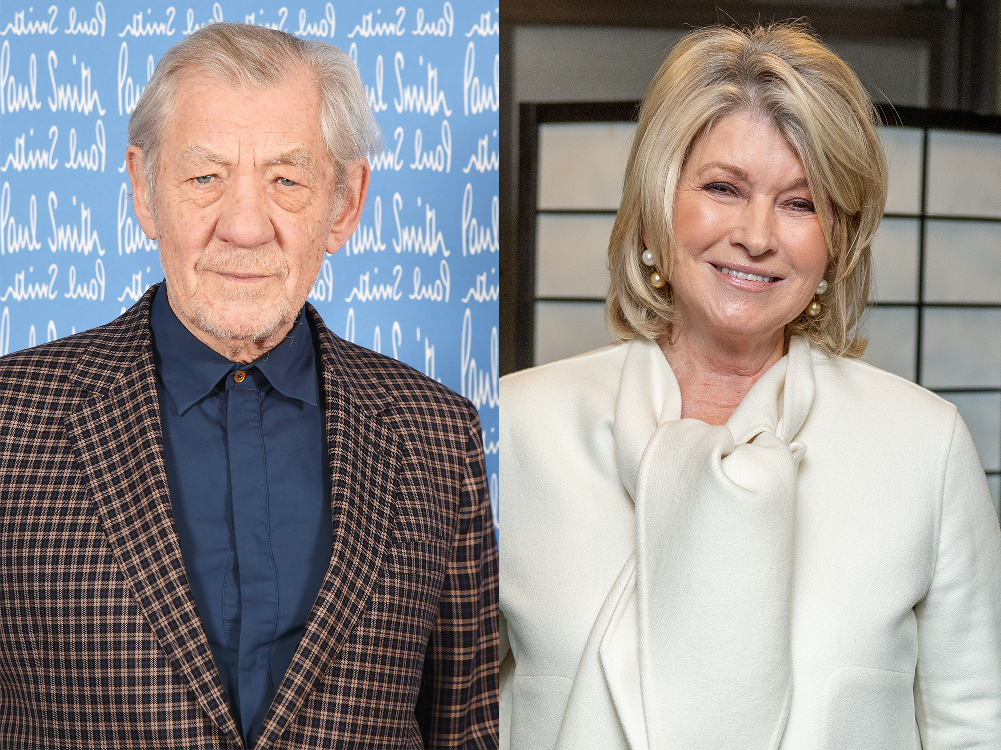 Ian McKellen and Martha Stewart