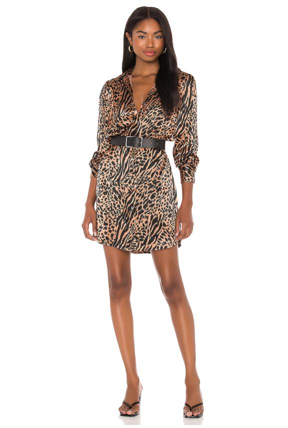 rails leopard shirt dress