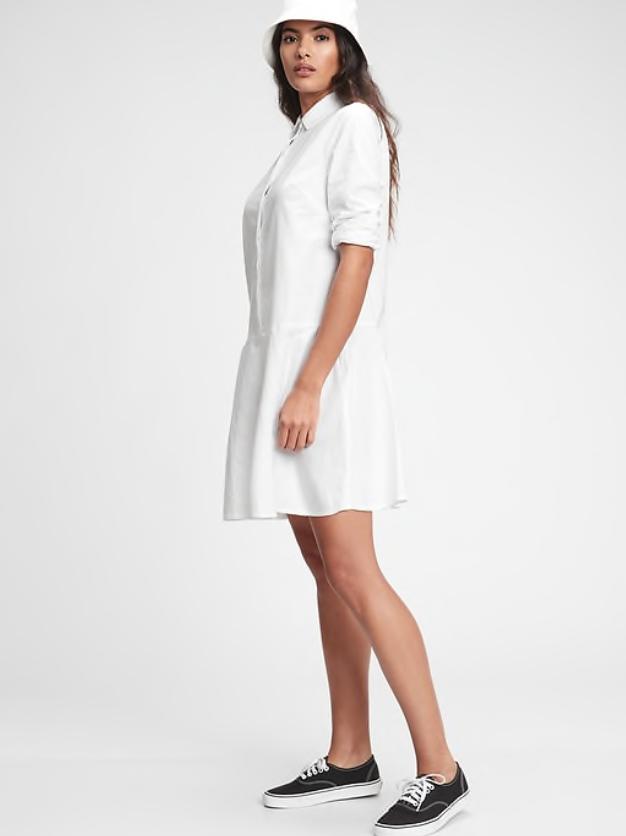 white shirt dress gap