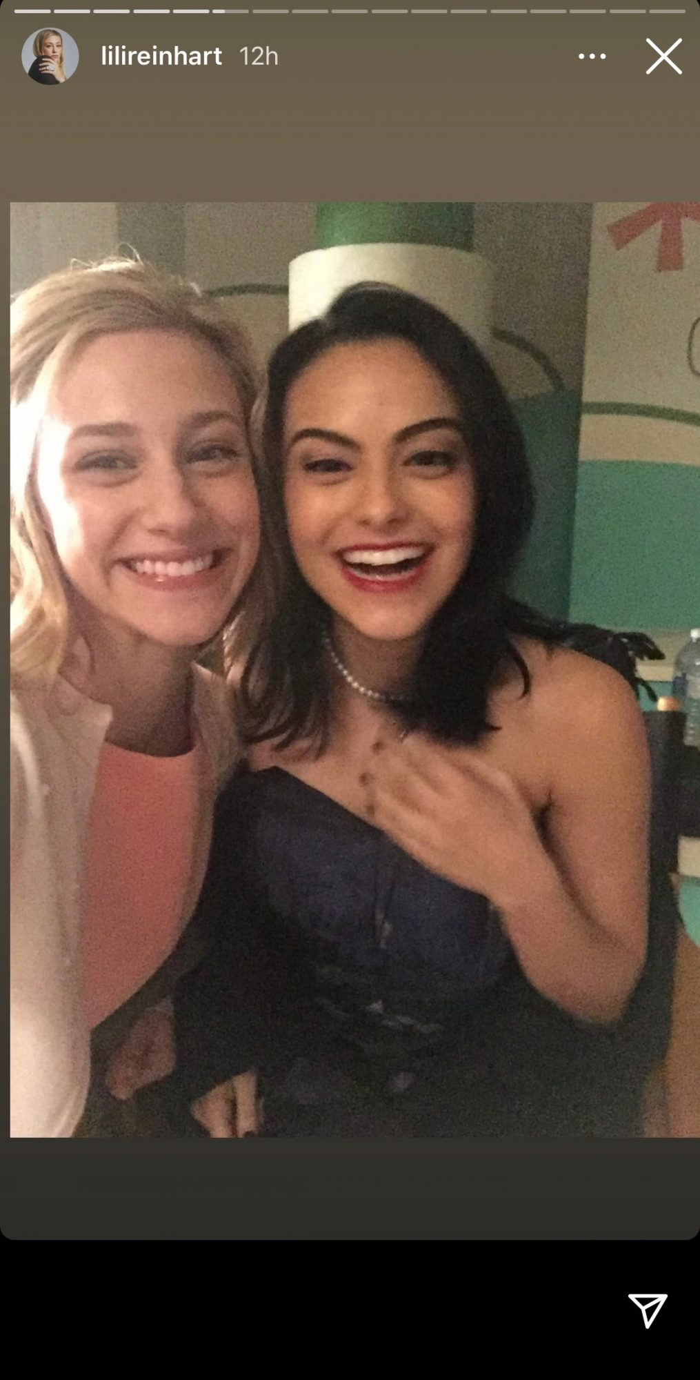 Lili Reinhart and Camila Mendes on Riverdale