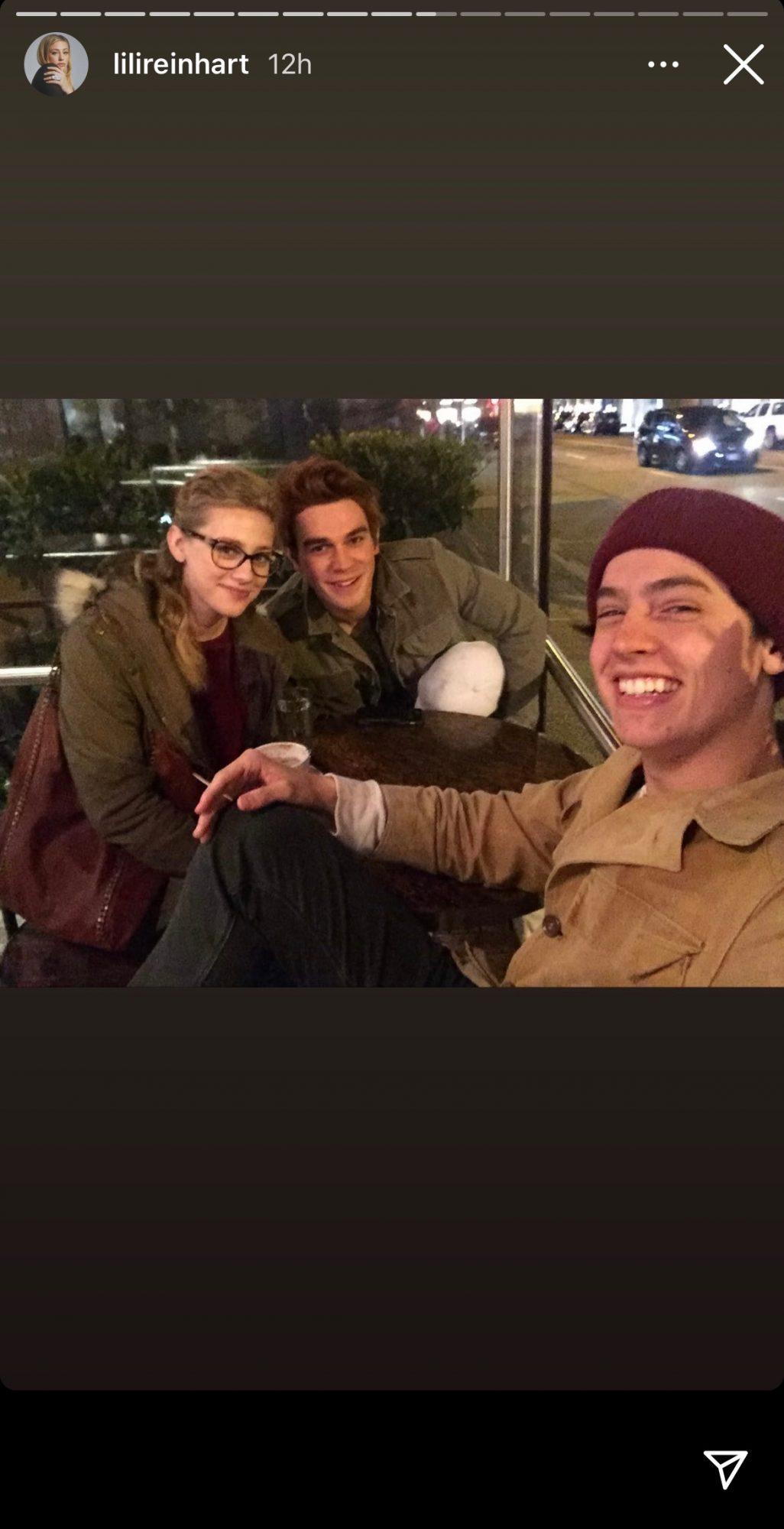 Lili Reinhart, KJ Apa, and Cole Sprouse on Riverdale