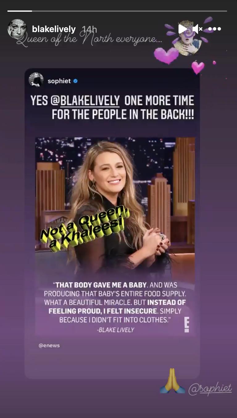 blake lively instagram story 2