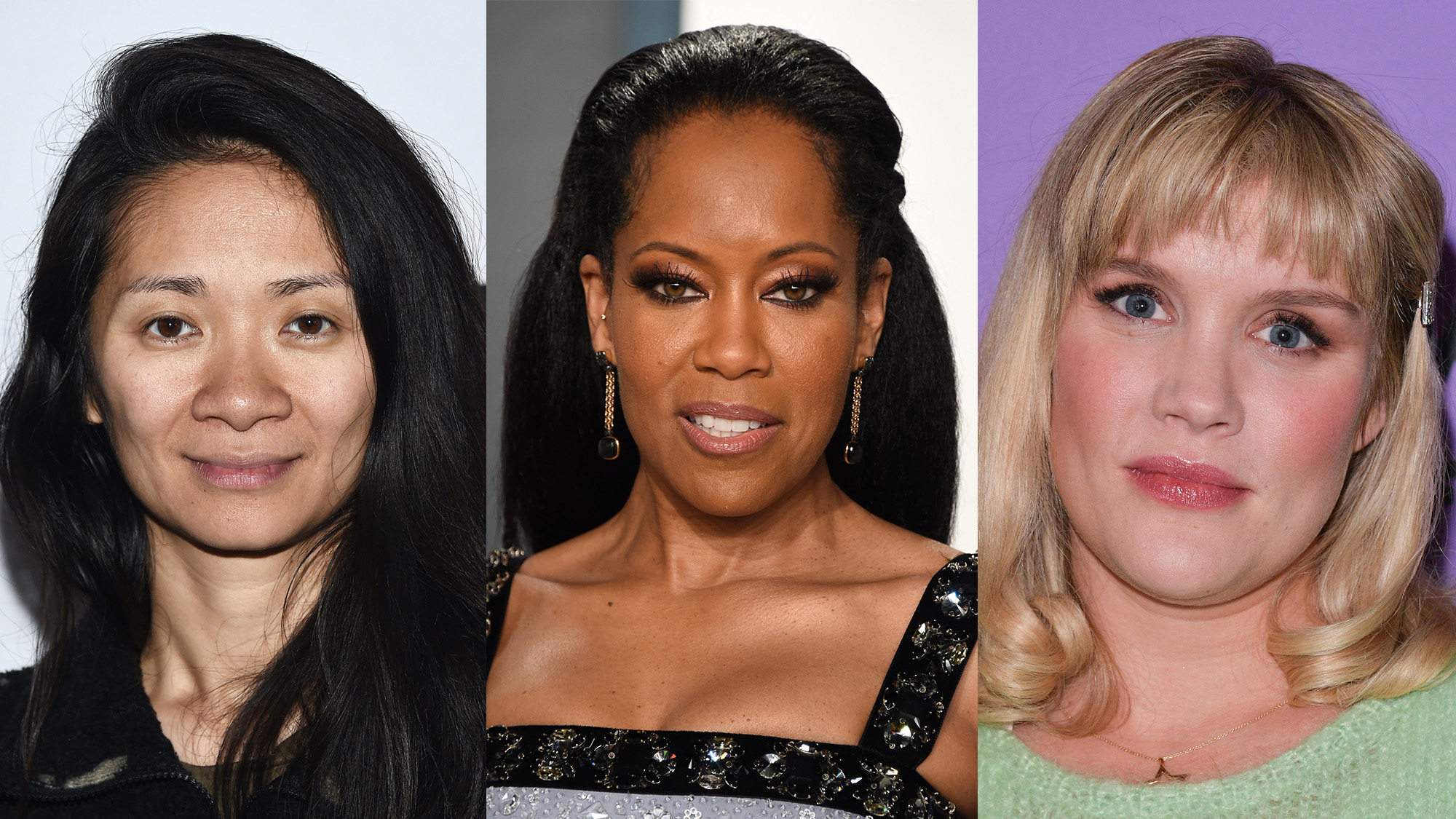Chloe Zhao, Regina King, and Emerald Fennell
