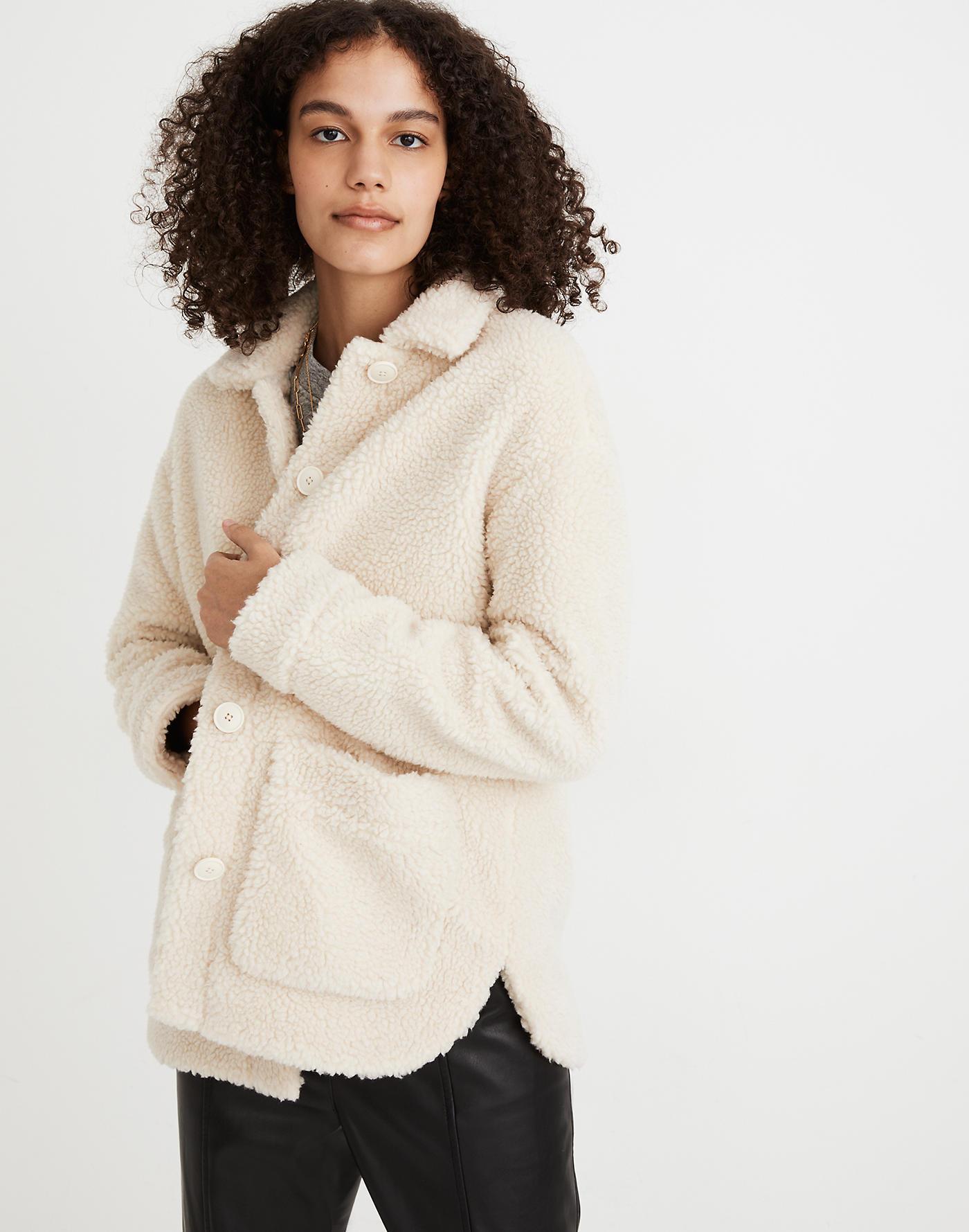 Madewell sherpa shirt-jacket