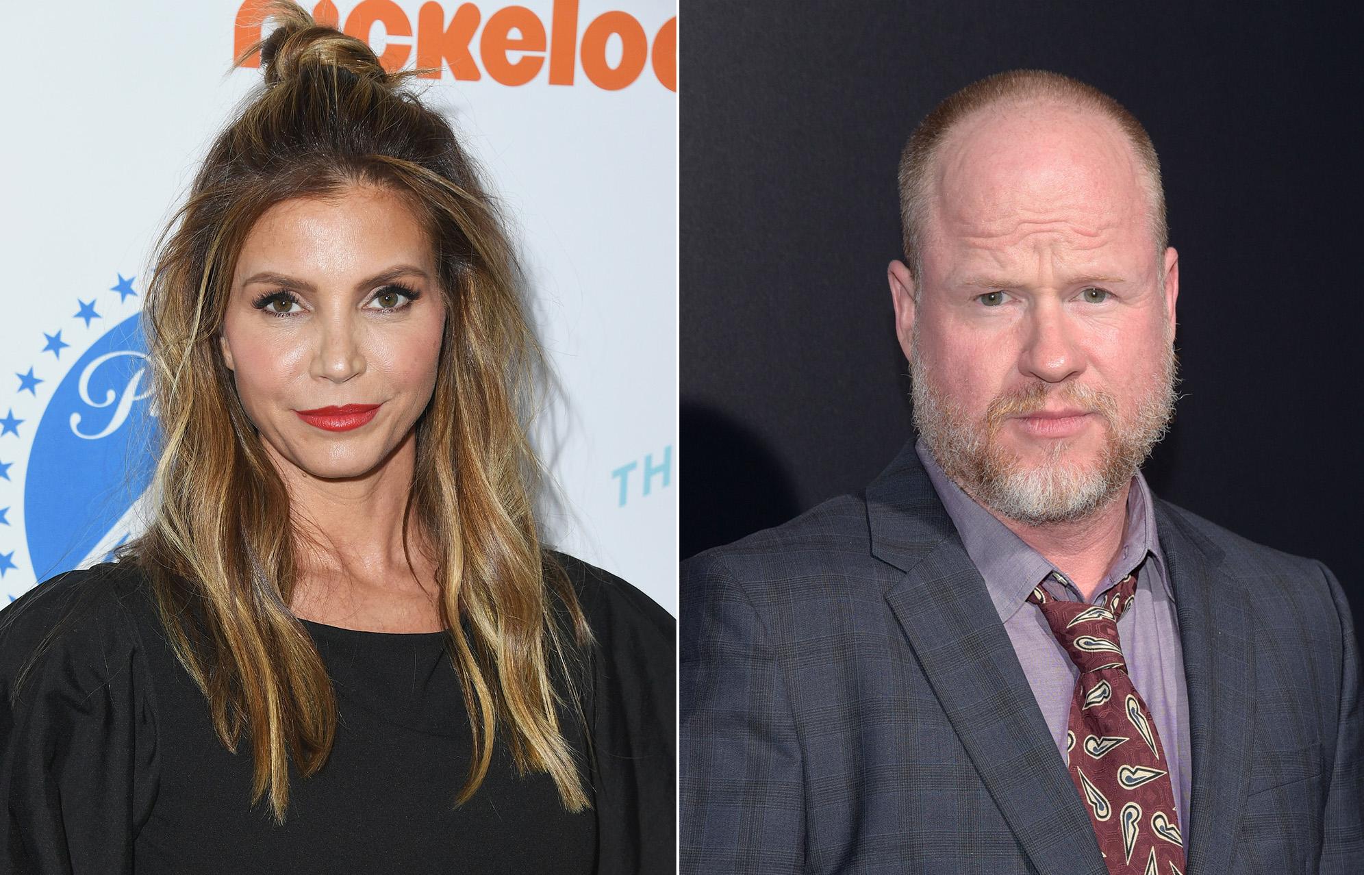 Charisma Carpenter and Joss Whedon