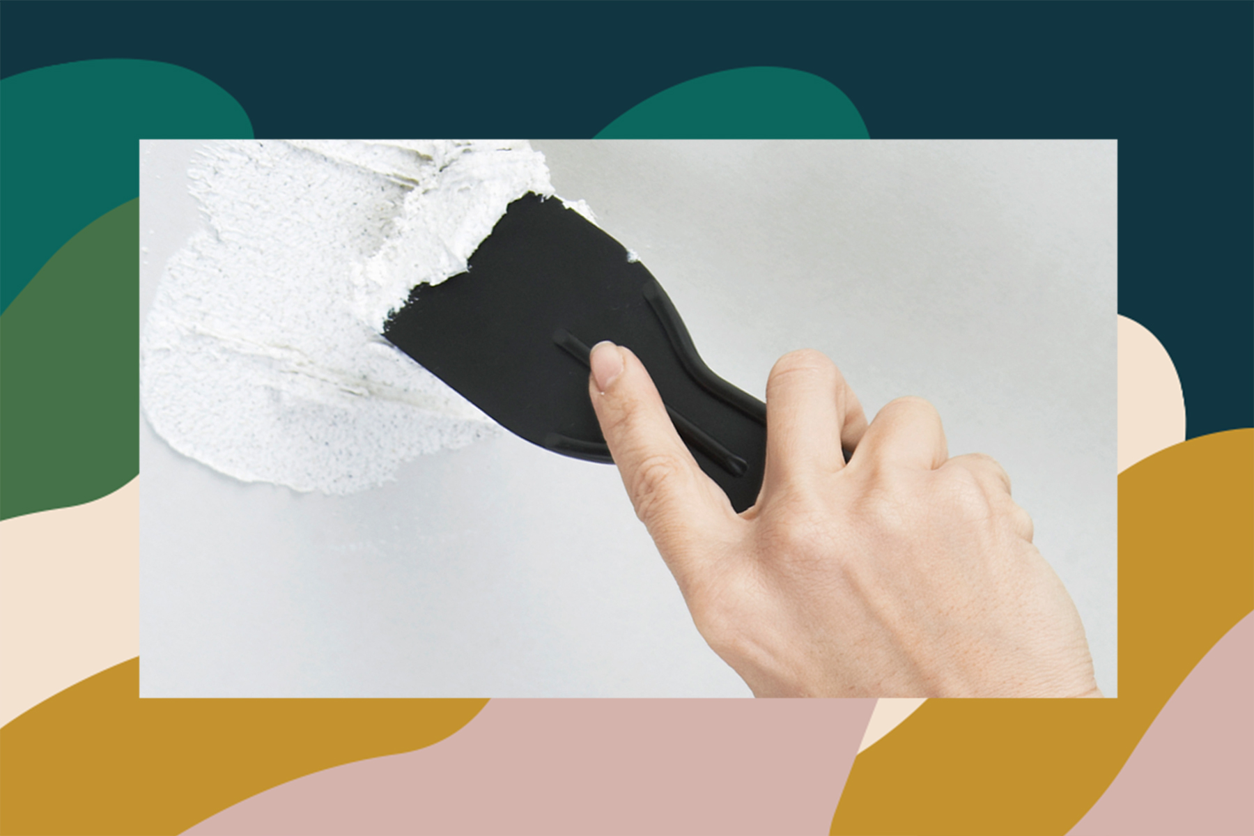 how to spackle a hole