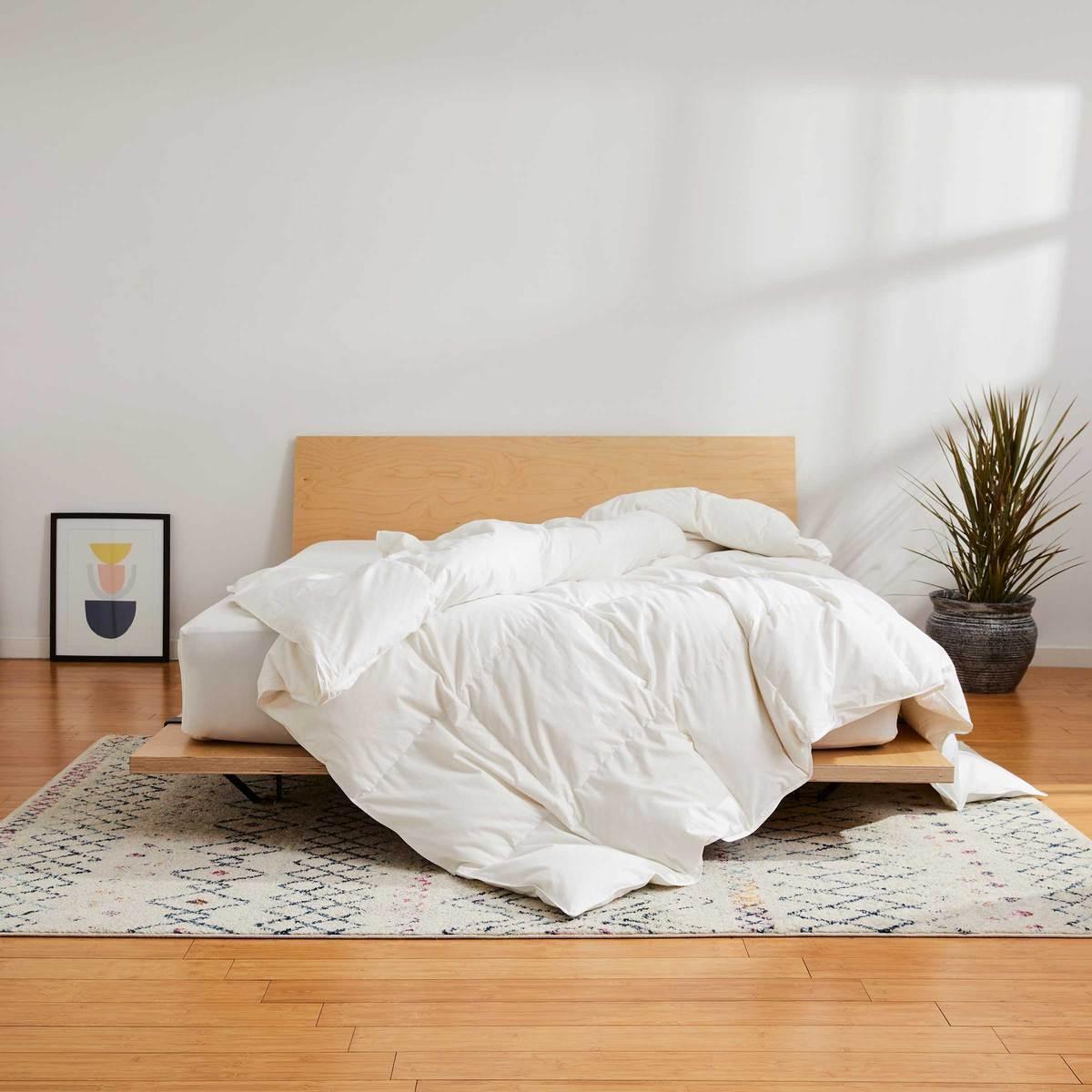 brooklinen down comforter, President day sale