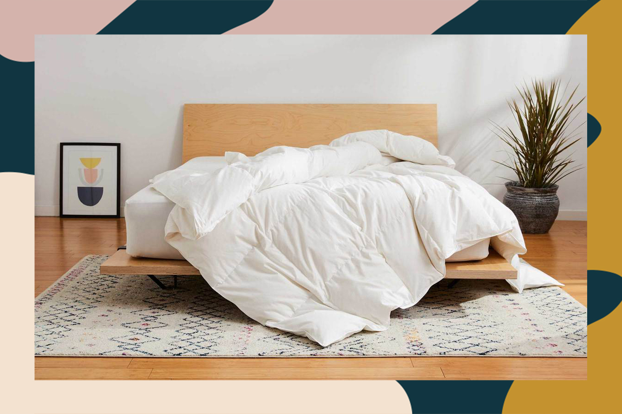 brooklinen down comforter, President day sale