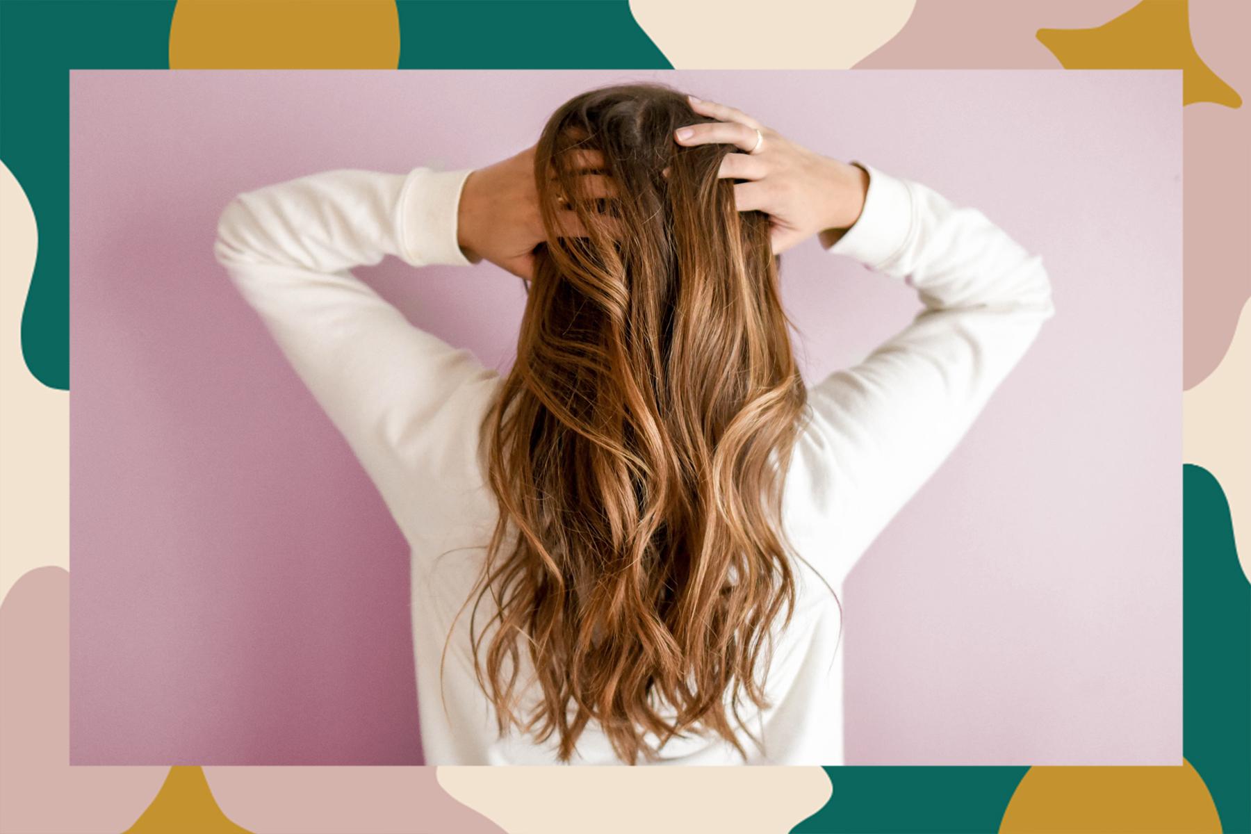 tiktok rice water hack hair shiny