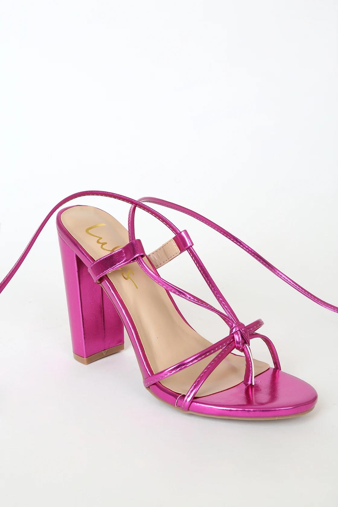 lulus pink heels