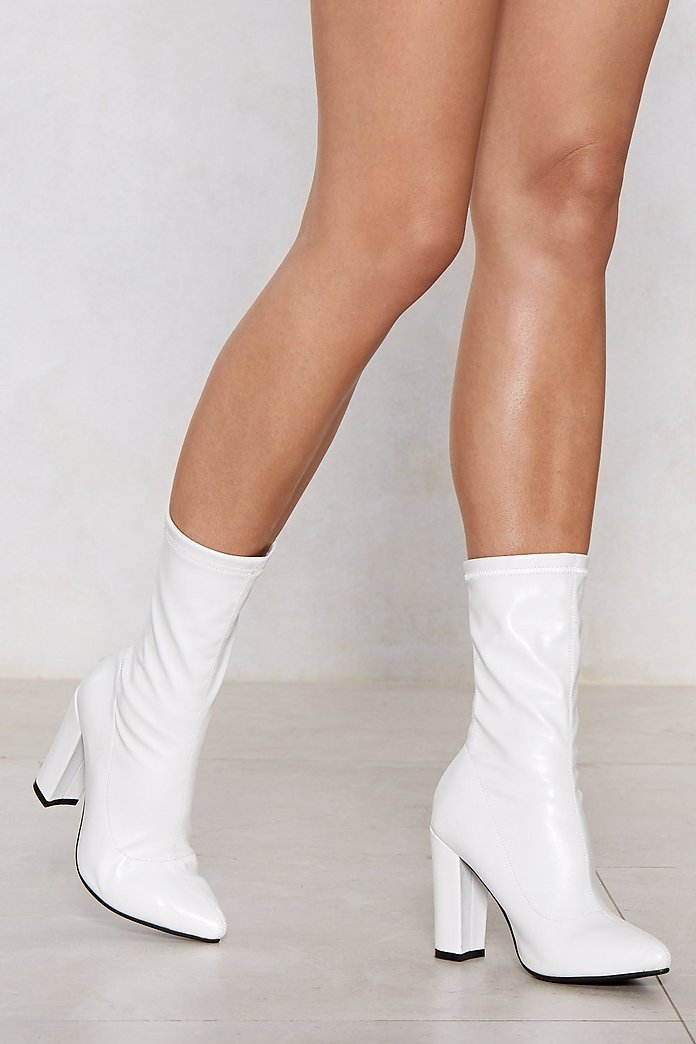 nasty gal white boots