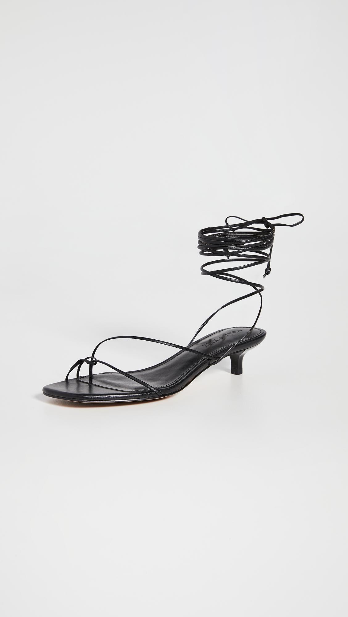 strappy kitten heels