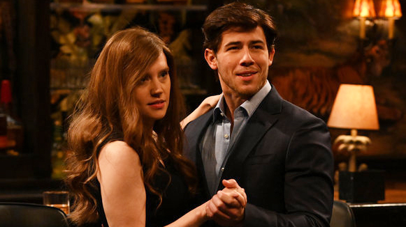 Nick Jonas and Kate McKinnon on SNL