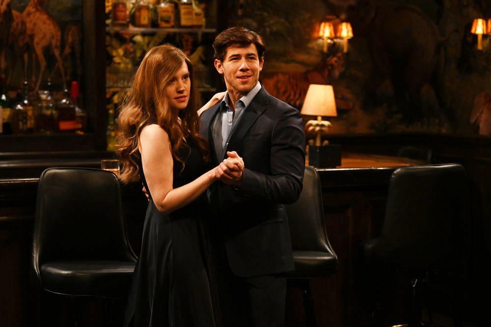 Nick Jonas and Kate McKinnon on SNL