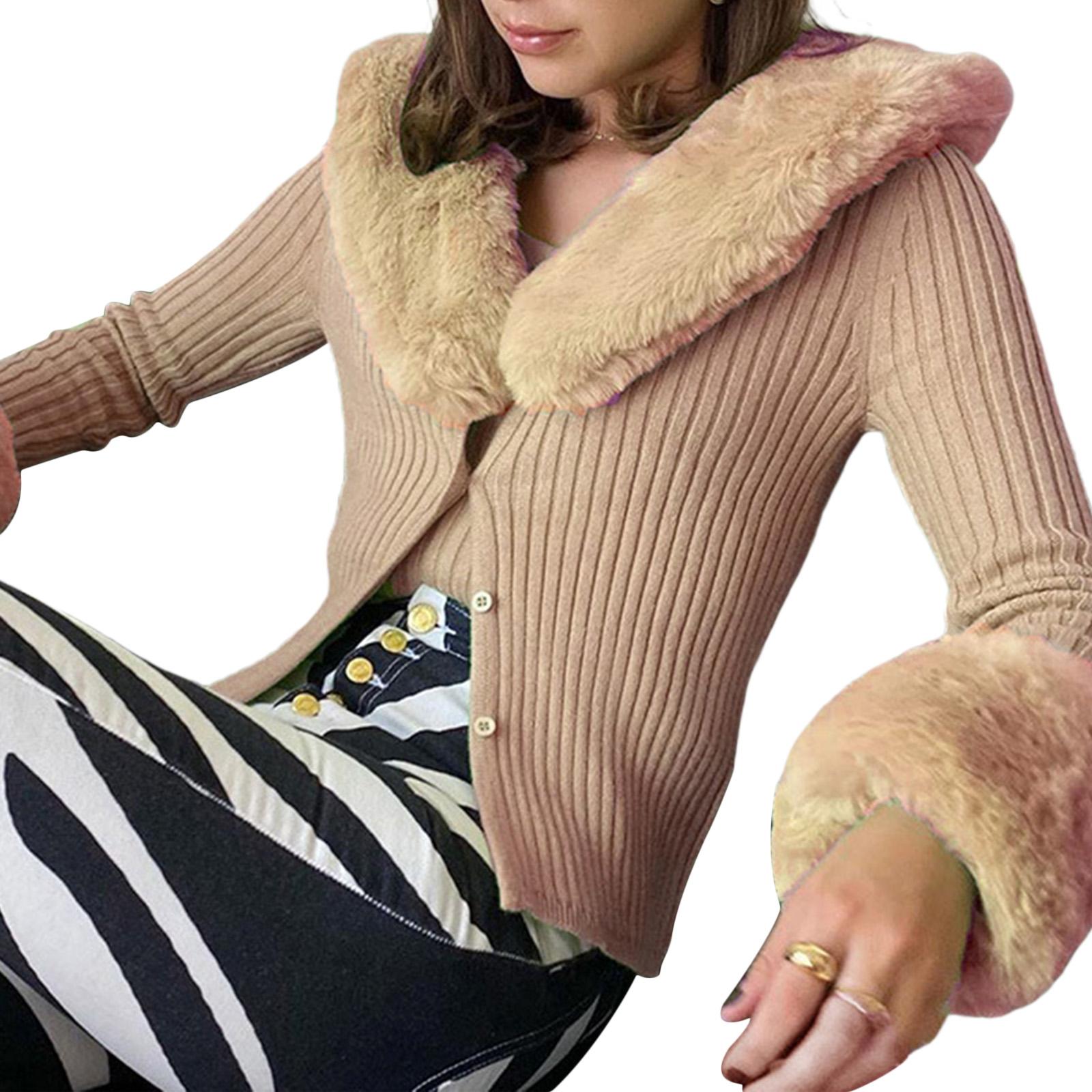 faux fur cardigan