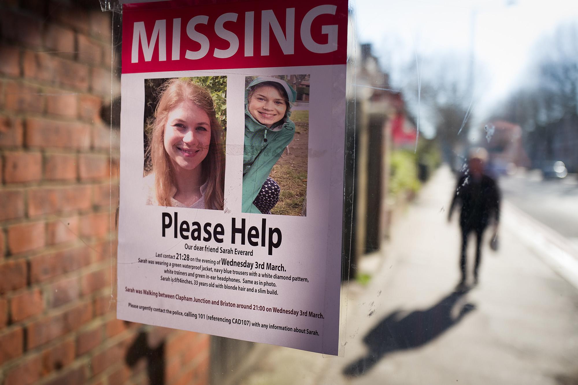 Sarah Everard missing poster