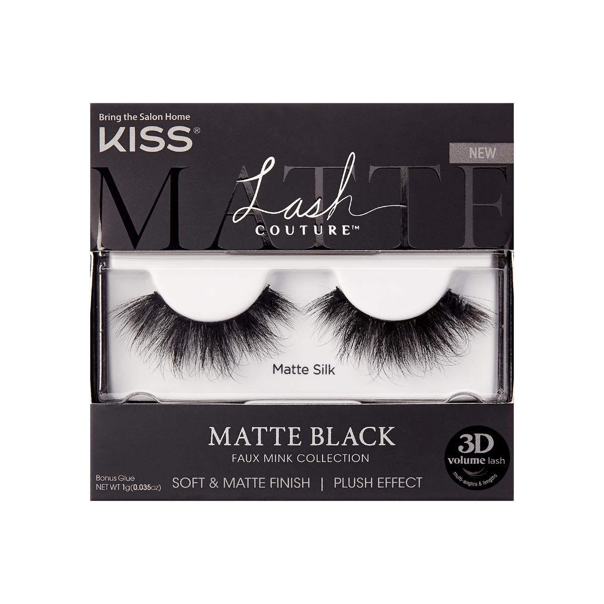 kiss matte black lashes
