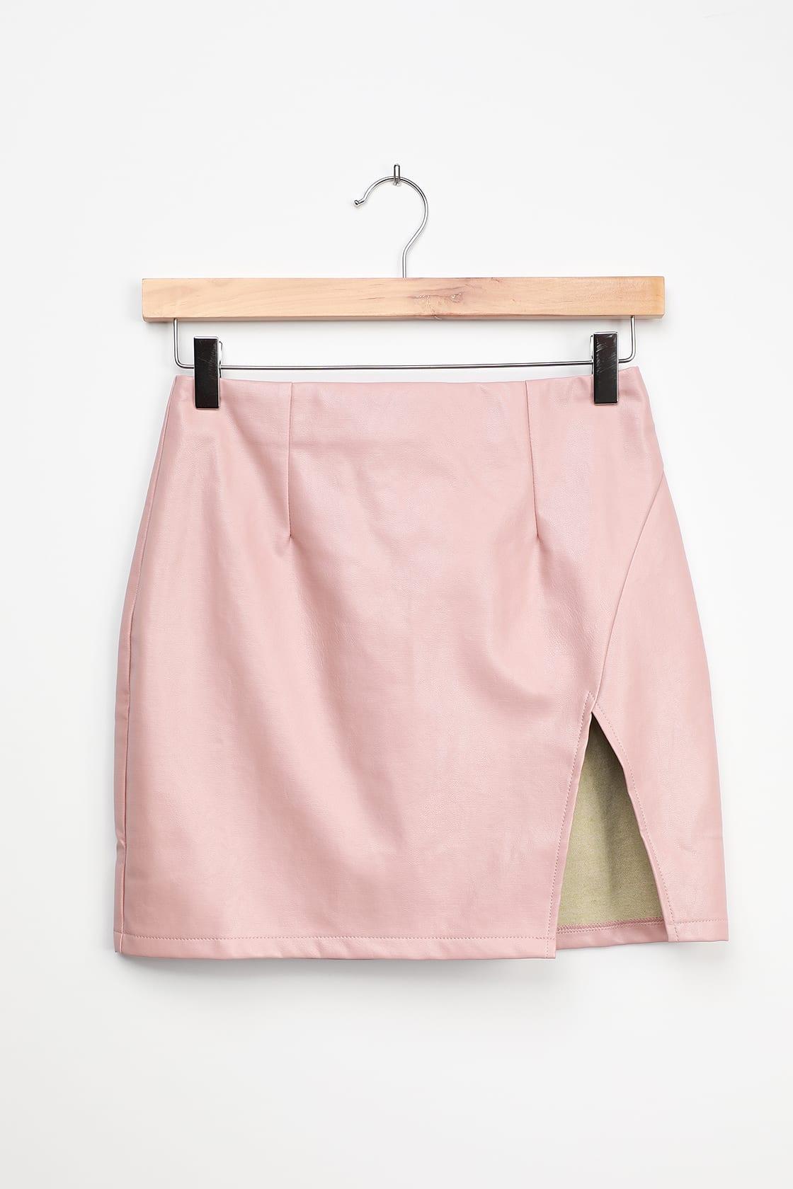 lulus pink mini skirt