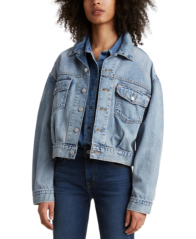 boxy jean jacket