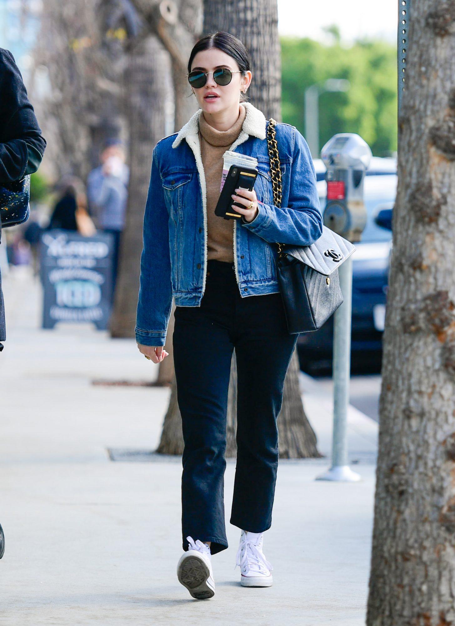lucy hale jean jacket