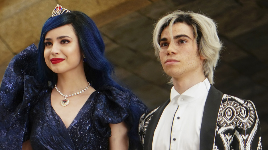 Sofia Carson and Cameron Boyce in Descendants
