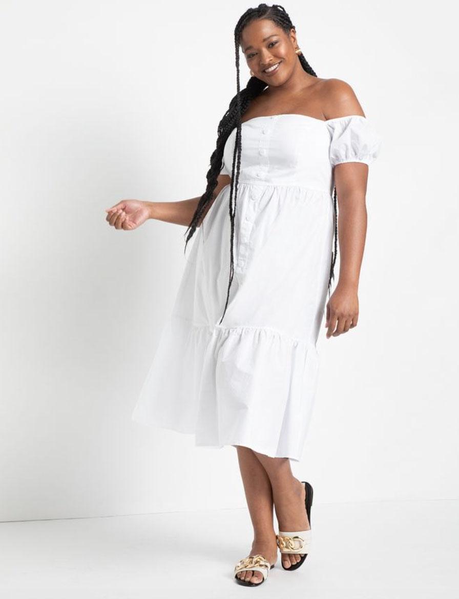 best sundresses plus size eloquii off-the-shoulder