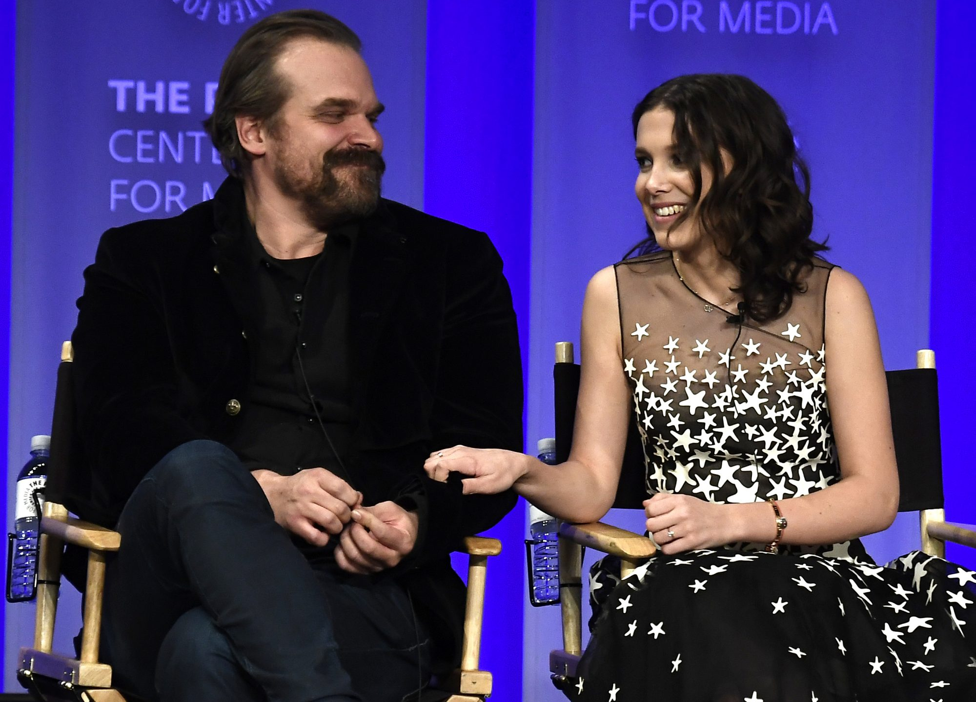 David Harbour and Millie Bobby Brown