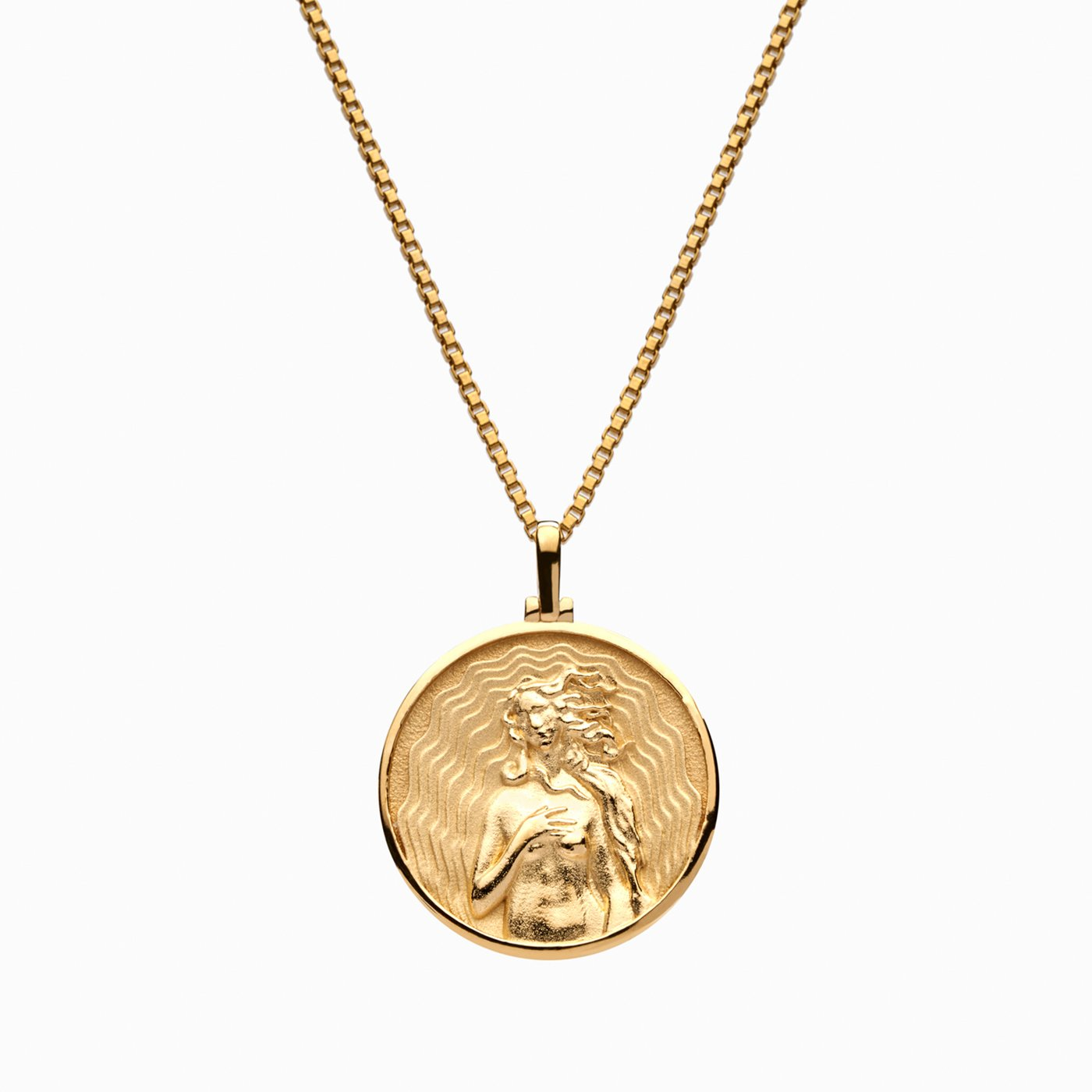 coin pendant necklace greek goddess necklace