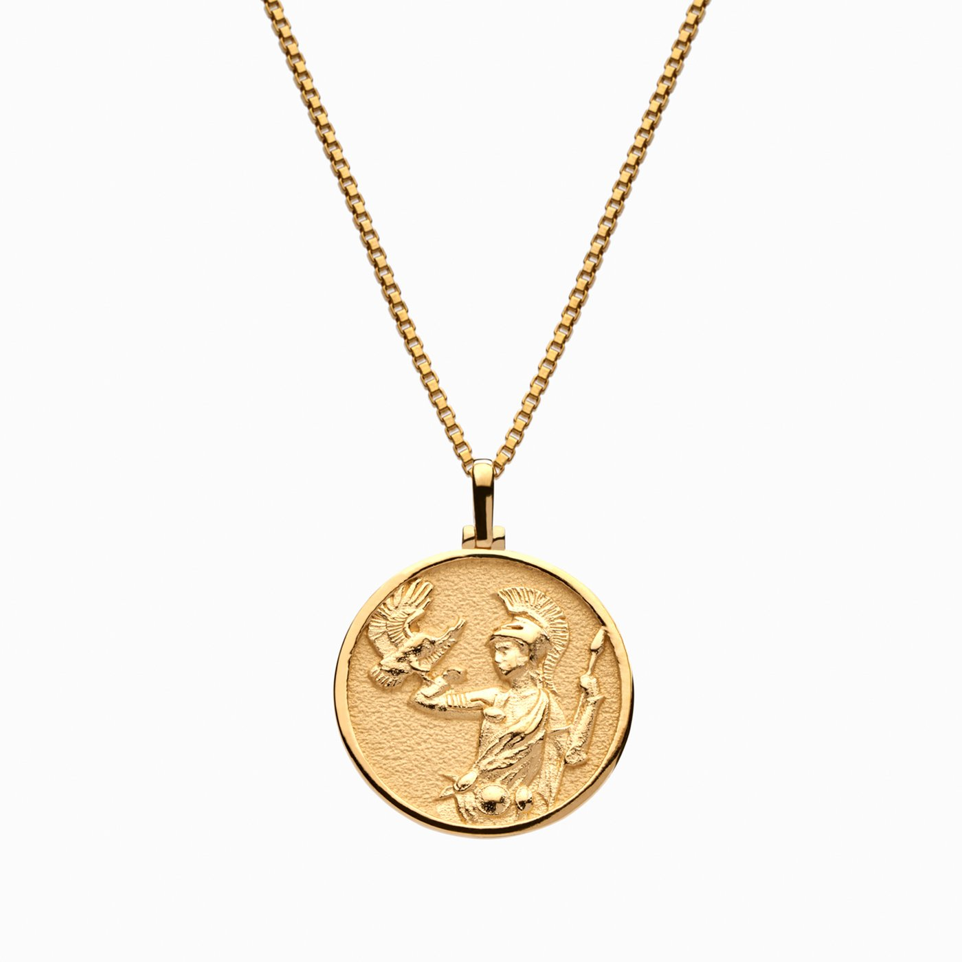 coin necklace greek goddess necklace