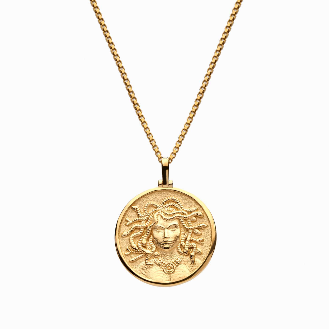 coin necklace; greek goddess necklace