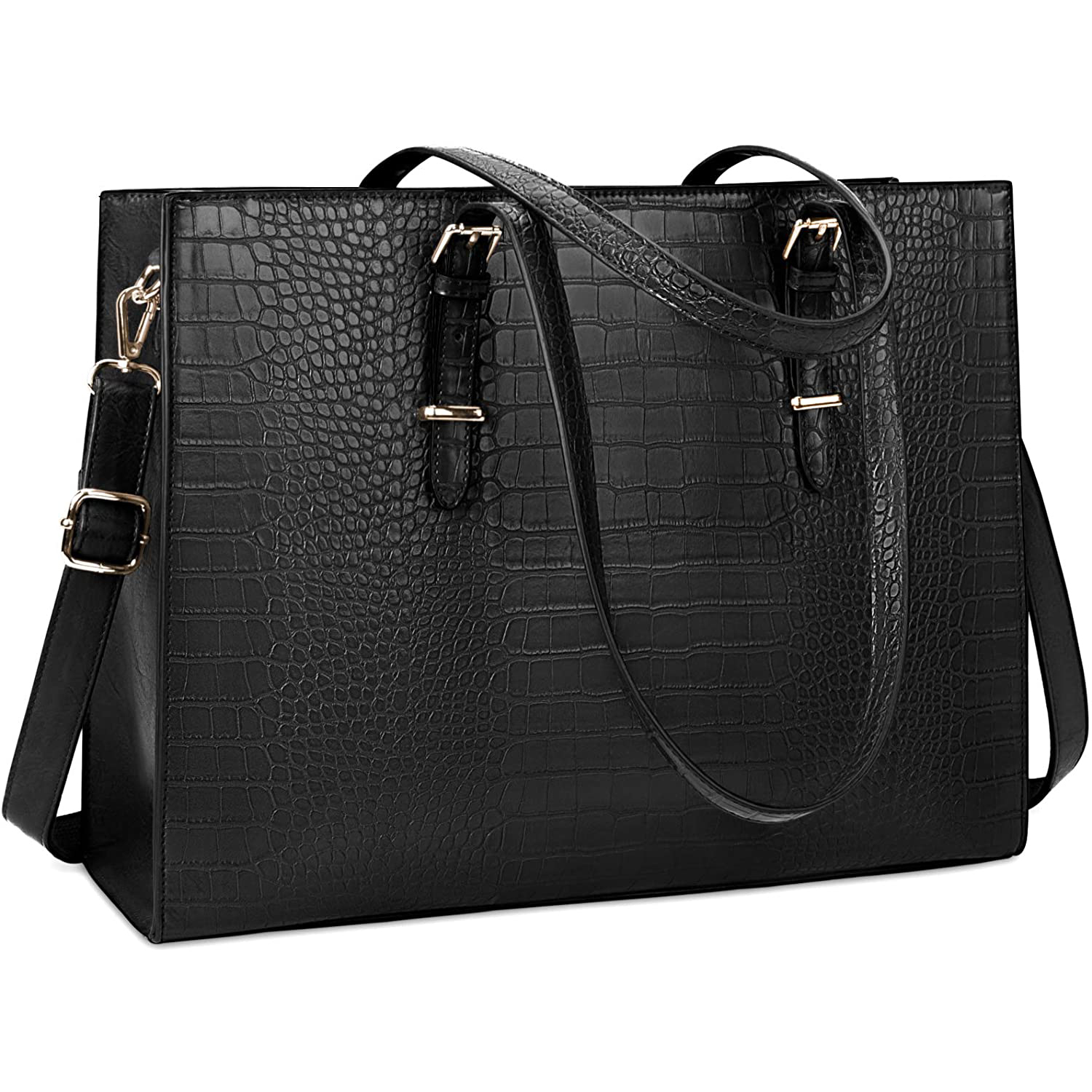 snakeskin leather tote