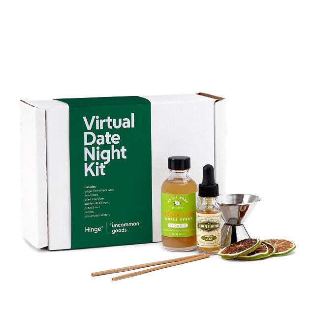 Hinge date night kit; virtual date ideas