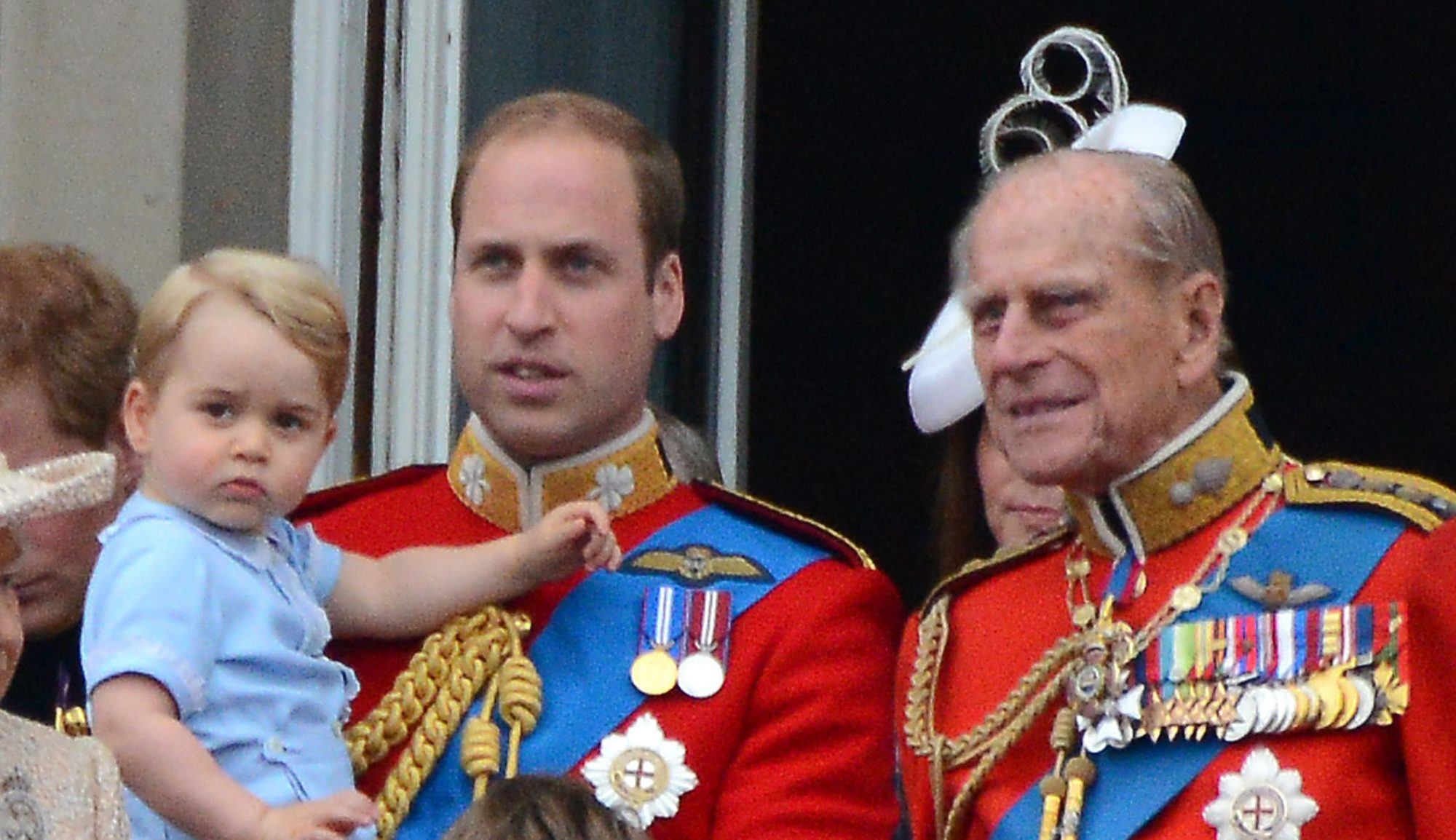 Prince Philip with Prince William and Prince George