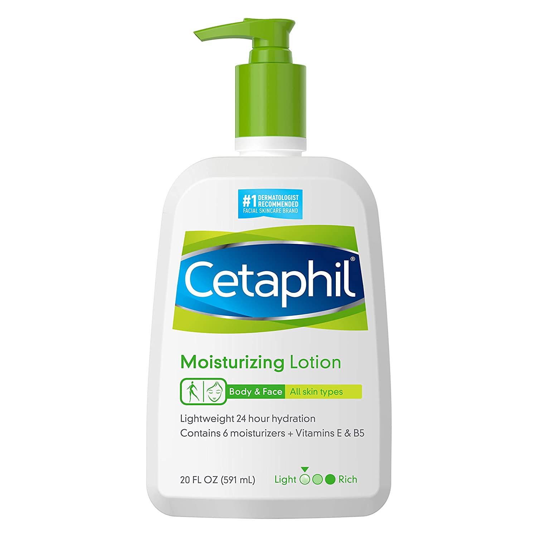 TikTok beauty; Cetaphil moisturizing lotion