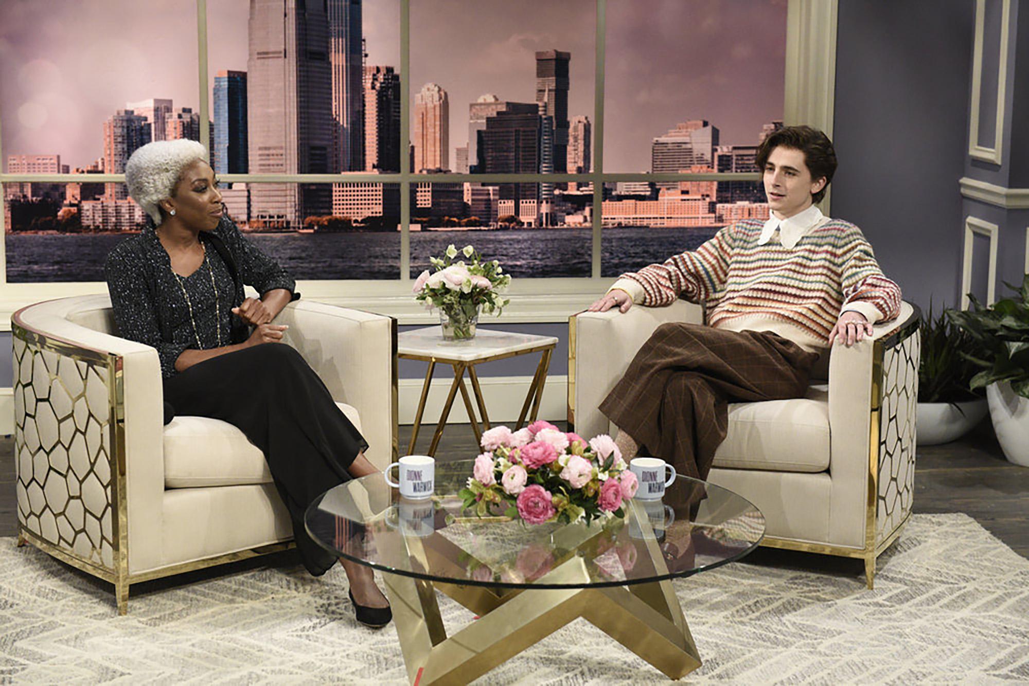 Timothee Chalamet on SNL